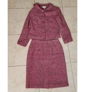 Talbots Tweed Blazer & Skirt Suit Set